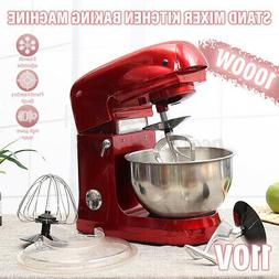 1000W Electric Food Stand Mixer Tilt-Head 6 Speed 5.3QT Stai