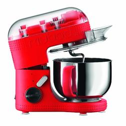 BODUM 11381-294US Bistro Electric Stand Mixer, 4.7-Liter, Re