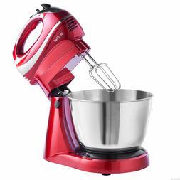2 in 1 Stand Mixer & Hand Mixer Blender Food Processor 5 Att