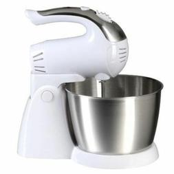 Brentwood 200W White 5-Speed Turbo Stand or Hand Mixer  w St