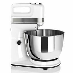 250W 5-Speed Stand Mixer with Dough Hooks Beaters and Stainl