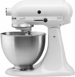 275 Watt 10 Speed White Classic Stand Mixer, with 4.5 Quart