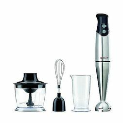 Breville 3-in-1 Hand Blender Food Mixer Set Processor Choppe