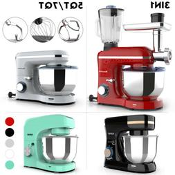 3 in 1 Tilt-Head Stand Mixer 4.7/7QT Bowl 6/8 Speed Red/Blac