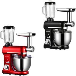 3 in 1 Tilt-Head Mixer w/ 7QT Bowl 6 Speeds 850W Stand  Meat
