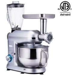 3 In 1 Upgraded Stand Mixer 6QT Stainless Steel Bowl Meat Gr