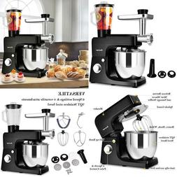 Costway 3 In 1 Upgraded Stand Mixer With Stainless Steel Bow