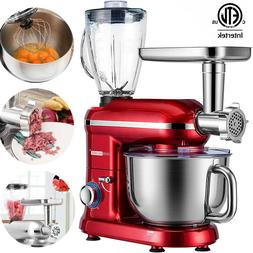 3in1 Food Stand Mixer Stainless Steel Bowl Meat Grinder Blen