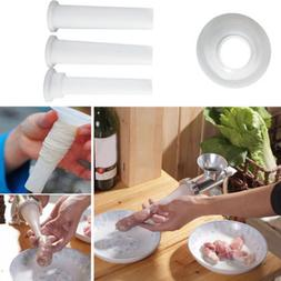 3pcs/Set Sausage Stuffer <font><b>Attachment</b></font> Food