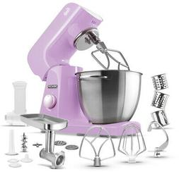 SENCOR 4.75 Qt. 8-Speed Stand Mixer w/ Locking Lid and Acces