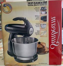 Sunbeam-4 Qt. 12-Speed Stand Mixer Stainless Steel Bowl-Chro