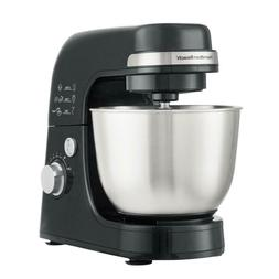 4 Qt. 7-Speed Black Stand Mixer with Dough Hook Whisk and Fl