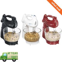 4 Quart Stand Mixer Power Deluxe Glass Bowl Kitchen Mixing M