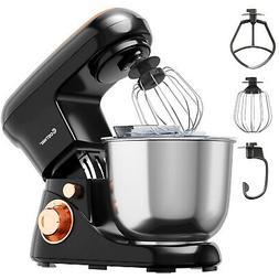 Costway 5.3 Qt Stand Mixer Kitchen Food Mixer 6 Speed w/ Dou