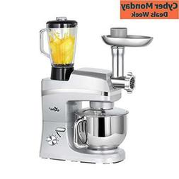 5.3 Quart Stand Mixer, 6 Speed TiltHead Stand Mixer with Mea