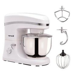 5.3qt 800W Home Kitchen Electric Food Stand Mixer w/ Stainle