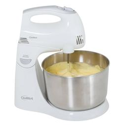 Premium 5 Speed Stand Hand Mixer 4.5 Qt Stainless Steel bowl