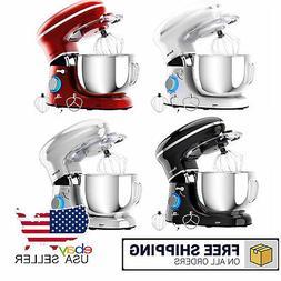 6.3Qt Electric Tilt-Head Food Stand Mixer 6 Speed 660W Dough