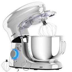 6.3Qt Tilt-Head Food Stand Mixer 6 Speed 660W w/Dough Hook W