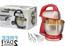 6-Speed Classic Hand Stand Mixer Hamilton Beach Stainless St
