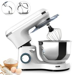7QT Electric Food Stand Mixer 6 Speed 660W Tilt-Head Stainle