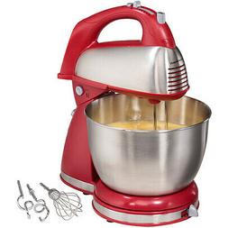 Hamilton Beach 6 Speed Stand Mixer Kitchen Baking Stainless