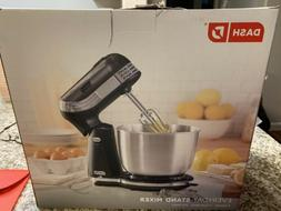 6 Speed Stand Mixer with 3 qt Stainless Steel Mixing Bowl Fo