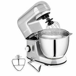 6 speeds Silver Stand Mixer Baking Machine Kitchen Dough Bre