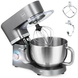 660W 6-Speed 6.3qt Stainless Steel Kitchen Stand Mixer w/ 3