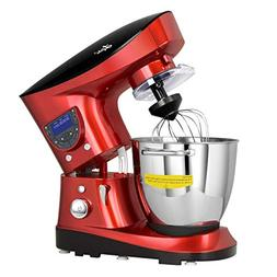 Litchi 7.4 Quart Cooking Stand Mixer with Meat Grinder, Blen