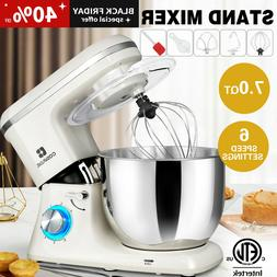7QT 660W Pro Tilt-Head Stand Mixer 6Speed Electric Kitchen S