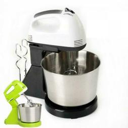 7Speed Electric Food Stand Hand Mixer Bowl Cake Dough Hook W
