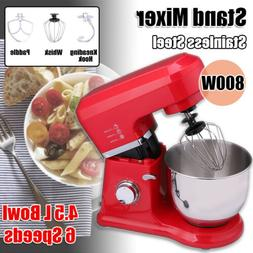 800w 6 speed stand mixer w dough