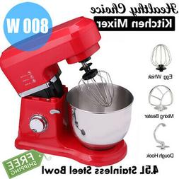 6 Speed Electric Food Stand Mixer Home Kitchen 4.3Qt Stainle