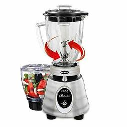 Oster - Beehive 2-speed Blender - Silver/transparent