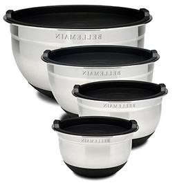 Top Rated Bellemain Stainless Steel Non-Slip Mixing Bowls wi