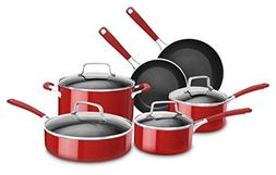 KitchenAid KC2AS10ER 10 Piece Aluminum Nonstick Set, Empire