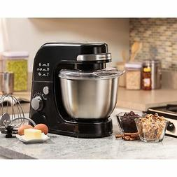 black 4 quart planetary stand mixer
