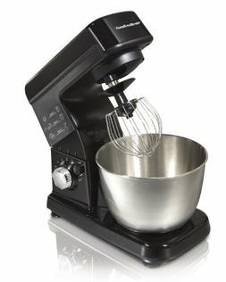 Cake Stand Mixer Bowl Steel Stand Mixer 6 Speed Black 300W K