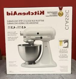 KitchenAid Classic Plus KSM75WH 4.5qt Tilt-Head Stand Mixer