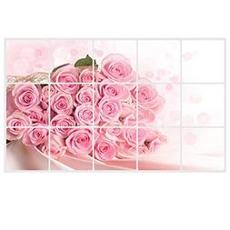 Decals Kitchen - Pink Rose Wall Decal Decoration Exhaust Fat