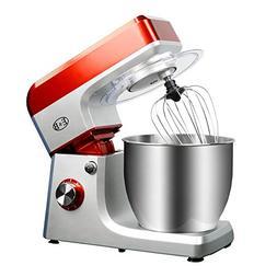 CARIHOME Dough Mixer Kitchen Knead Machine 1200W 6 Speed Til