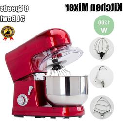 Electric 6-speed 5L Metallic Red Professional Stand Mixer Ki