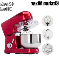 Electric 6-speed 5L Metallic Red Professional Stand Mixer 12