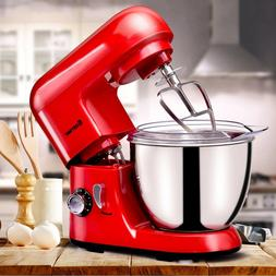 Costway Electric Food Stand Mixer 6 Speed 4.3Qt 550W Tilt-He