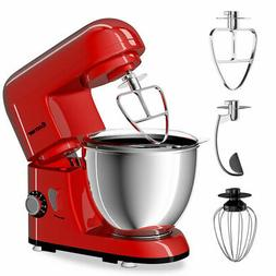 Goplus Electric Food Stand Mixer 6 Speed 4.3Qt 550W Tilt-Hea