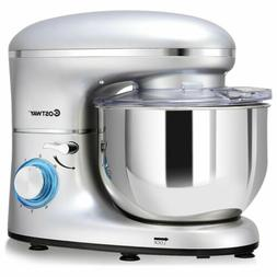 Costway Electric Food Stand Mixer 6 Speed 6.3Qt 660W Tilt-He