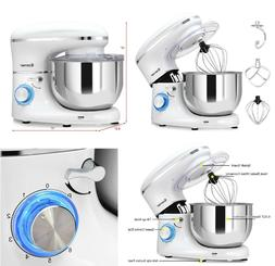 Electric Food Stand Mixer 6 Speed 6.3 Qt Tilt-Head Stainless