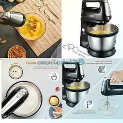 Electric Hand Mixer 5-Speed Stand Mixerwith Stainless Stee