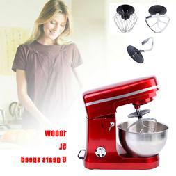 Electric Food Stand Mixer 1000W Tilt-Head 6 Speed Stainless